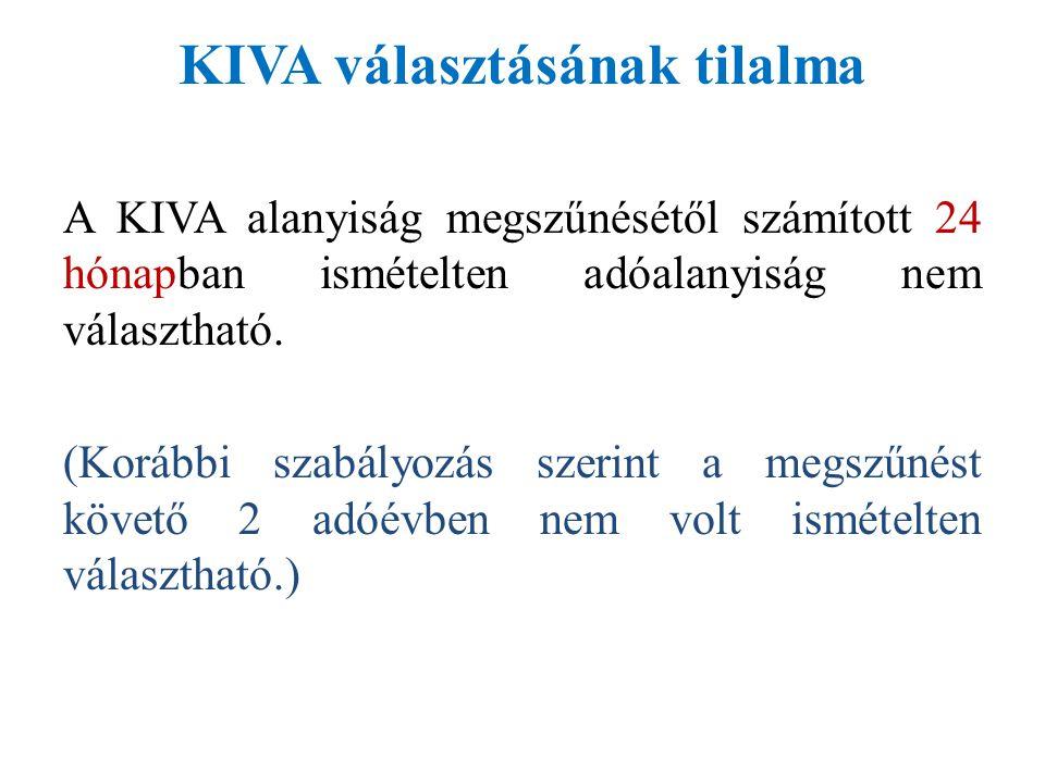 KIVA választásának tilalma