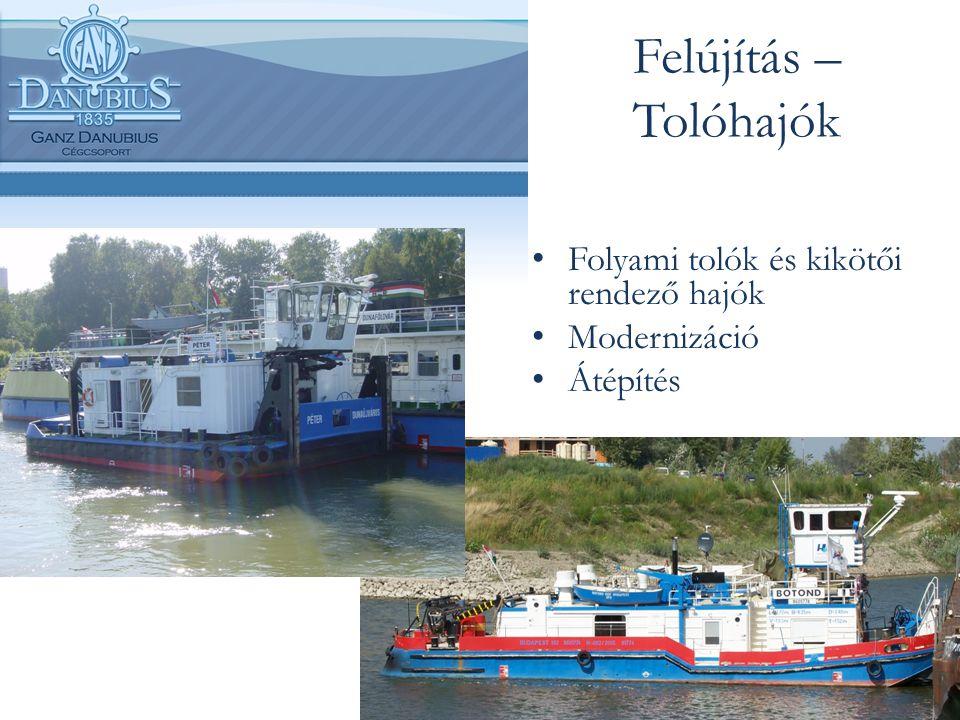 Felújítás – Tolóhajók Folyami tolók és kikötői rendező hajók