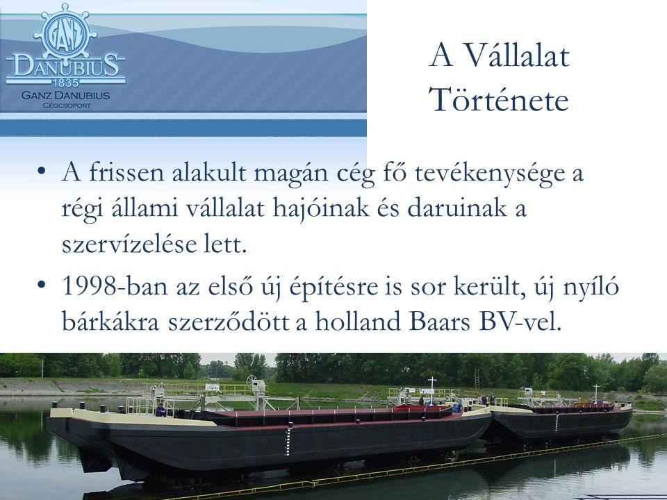 A Vállalat Története A frissen alakult magán cég fő tevékenysége a régi állami vállalat hajóinak és daruinak a szervízelése lett.