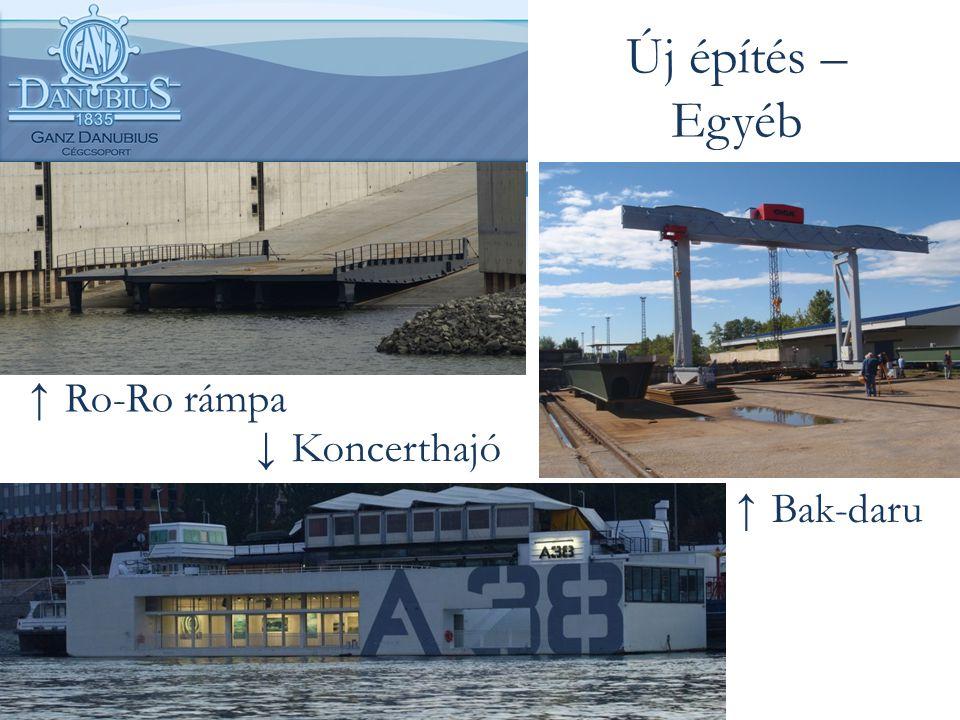 Új építés – Egyéb Ro-Ro rámpa Koncerthajó Bak-daru
