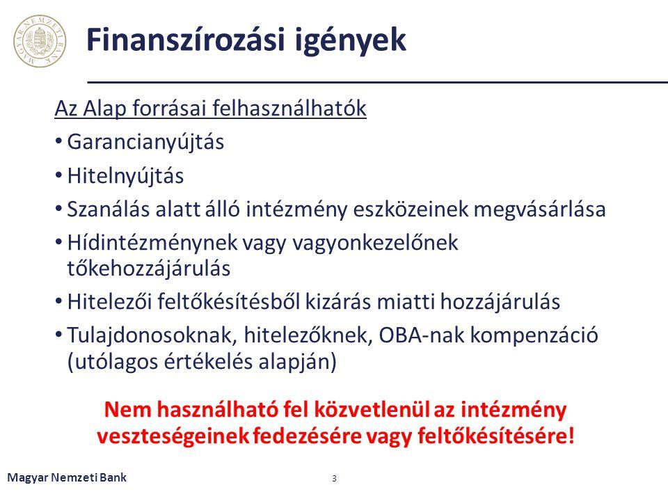 Finanszírozási igények