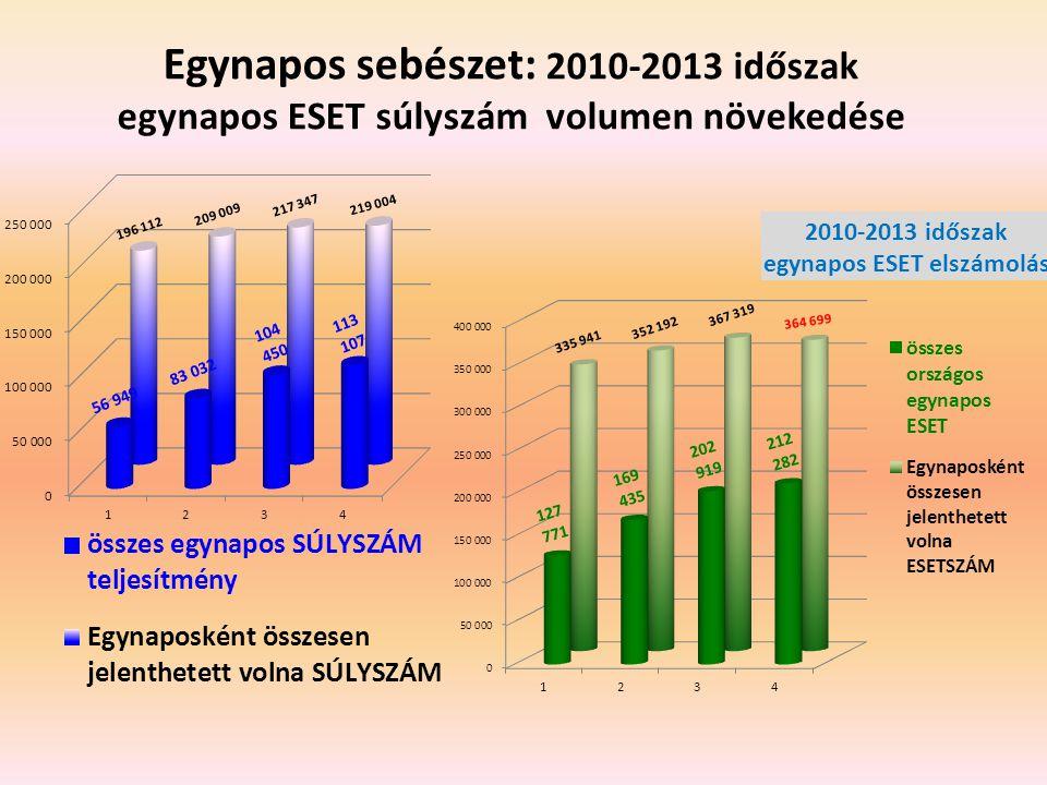 Egynapos sebészet: 2010-2013 időszak