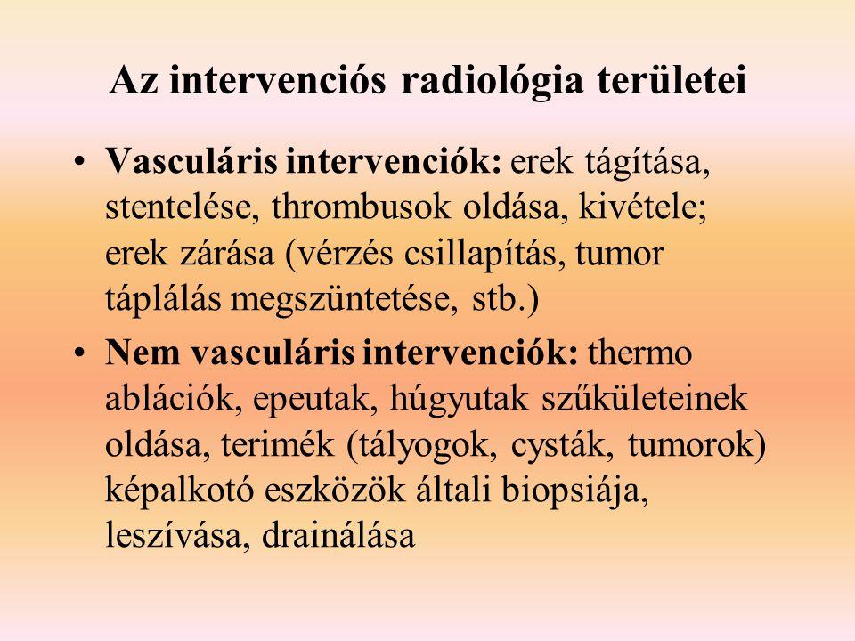 Az intervenciós radiológia területei