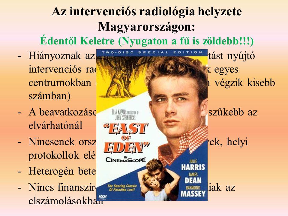 Az intervenciós radiológia helyzete Magyarországon: Édentől Keletre (Nyugaton a fű is zöldebb!!!)