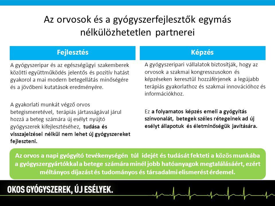 Az orvosok és a gyógyszerfejlesztők egymás nélkülözhetetlen partnerei
