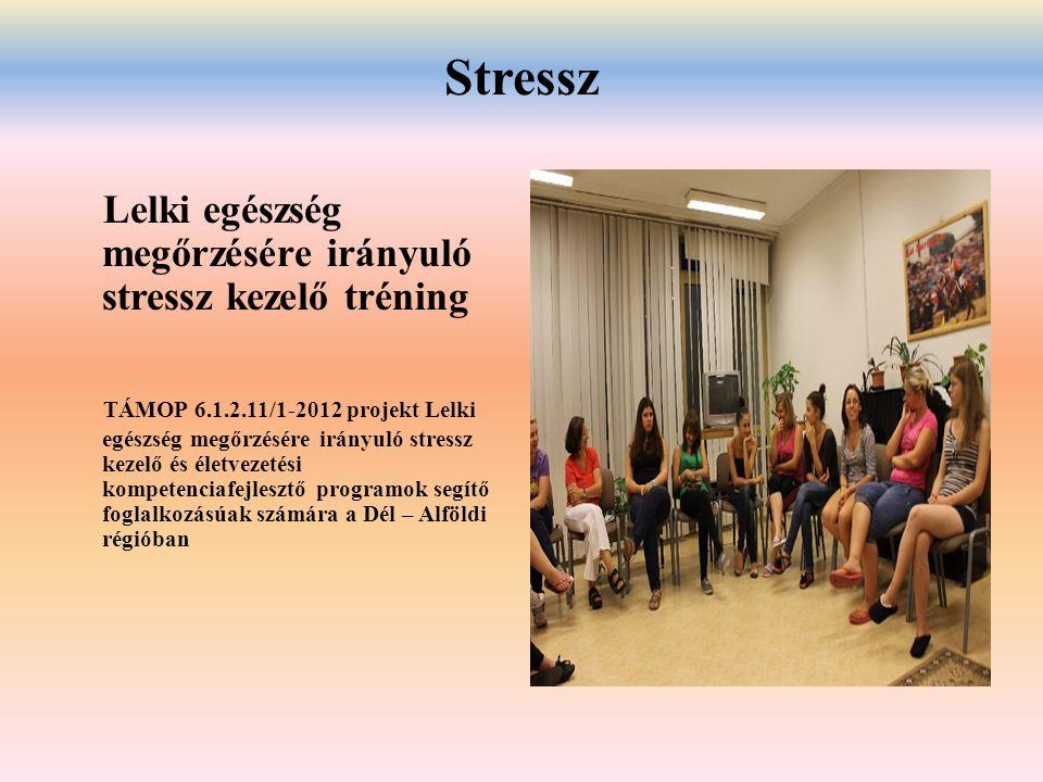 Stressz Lelki egészség megőrzésére irányuló stressz kezelő tréning