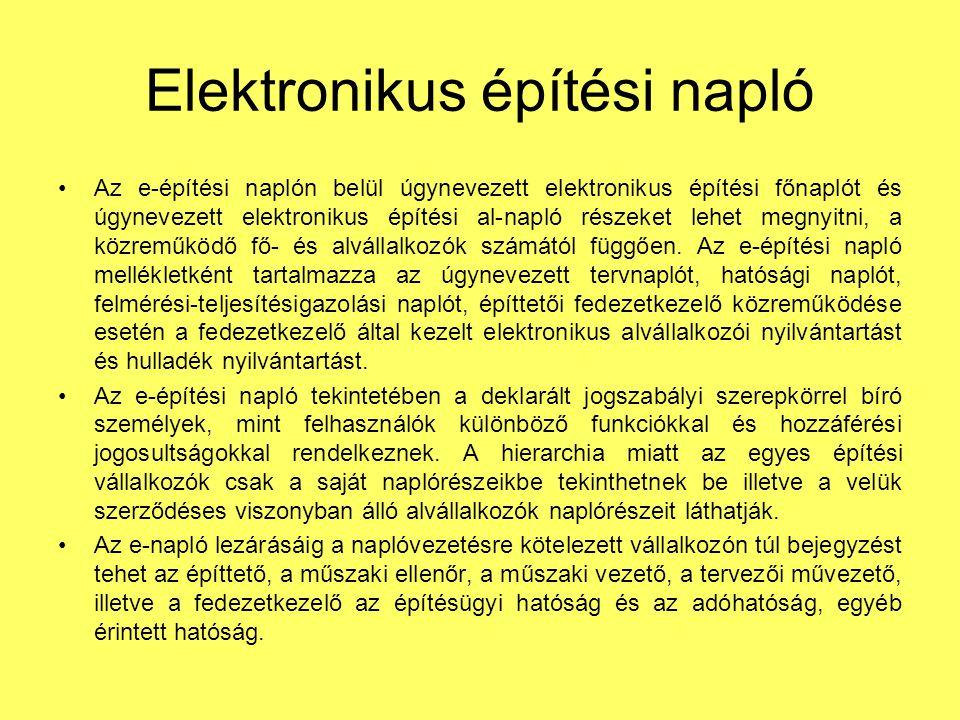Elektronikus építési napló