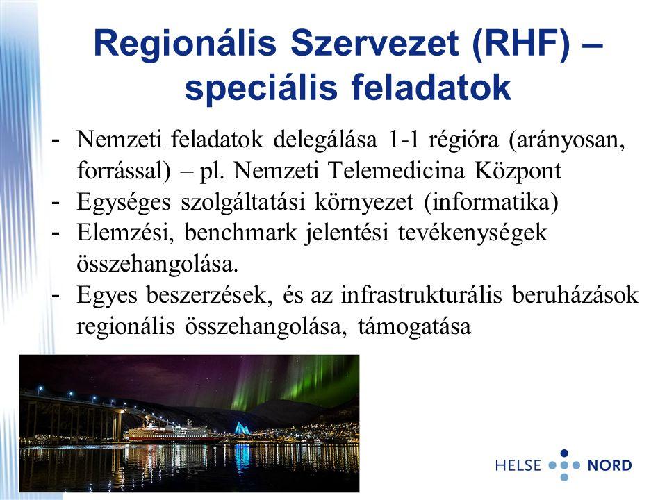 Regionális Szervezet (RHF) – speciális feladatok