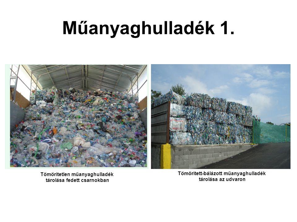 Műanyaghulladék 1. Tömörített-bálázott műanyaghulladék