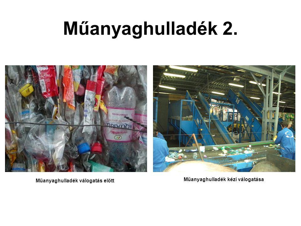 Műanyaghulladék válogatás előtt