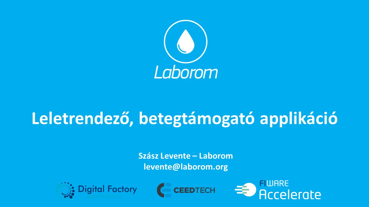 Leletrendező, betegtámogató applikáció Szász Levente – Laborom