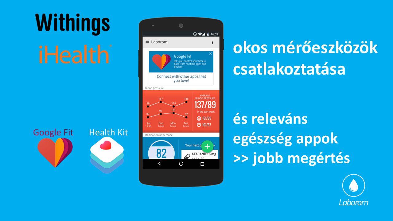 okos mérőeszközök csatlakoztatása és releváns egészség appok