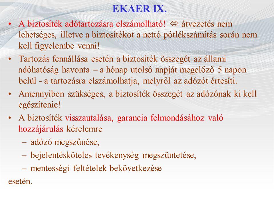 EKAER IX.
