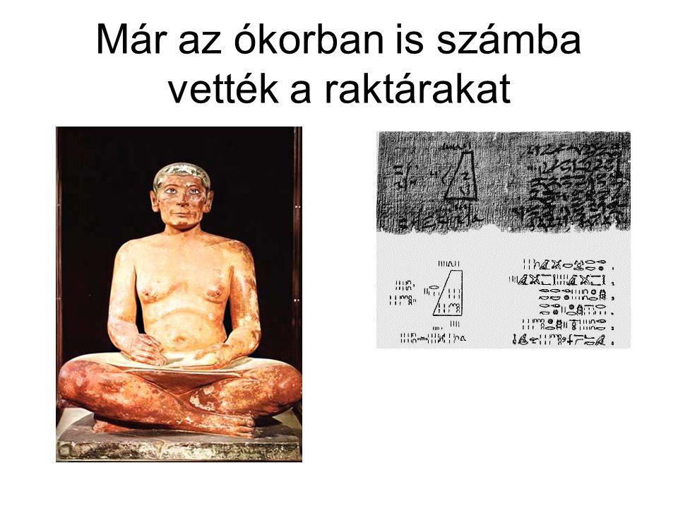 Már az ókorban is számba vették a raktárakat