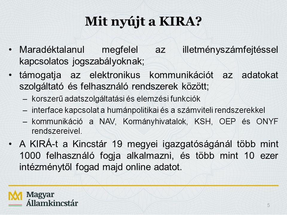 Mit nyújt a KIRA Maradéktalanul megfelel az illetményszámfejtéssel kapcsolatos jogszabályoknak;