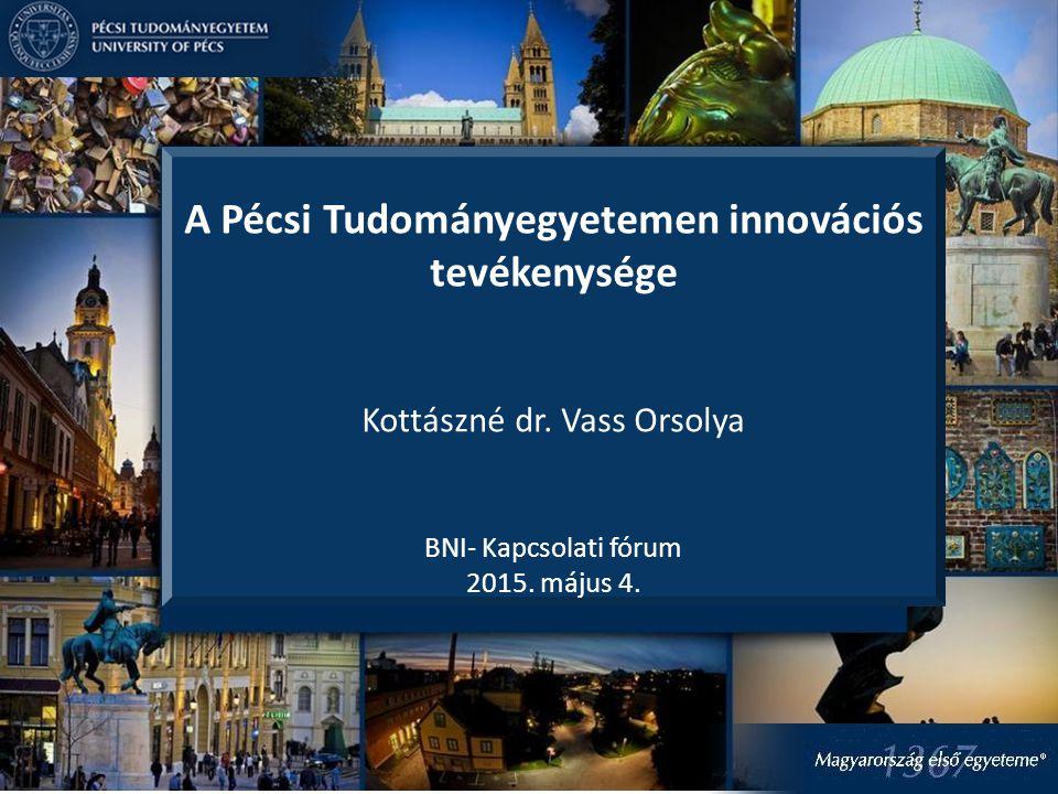 A Pécsi Tudományegyetemen innovációs tevékenysége