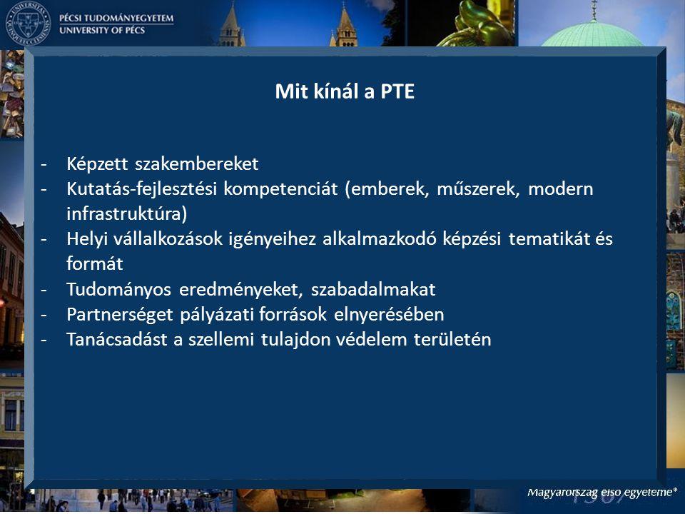 Mit kínál a PTE Képzett szakembereket