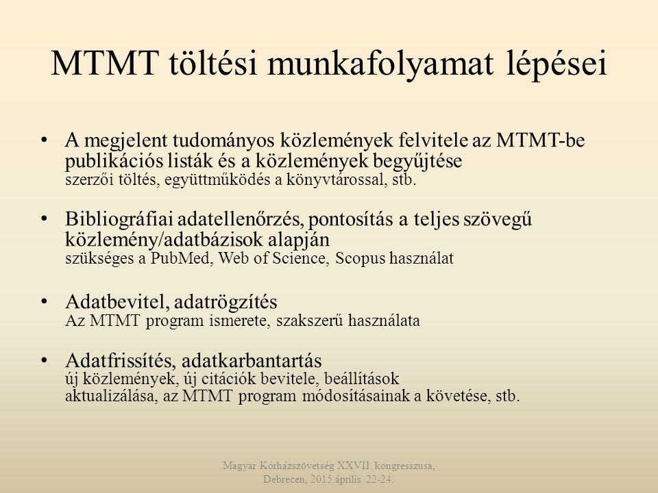 MTMT töltési munkafolyamat lépései