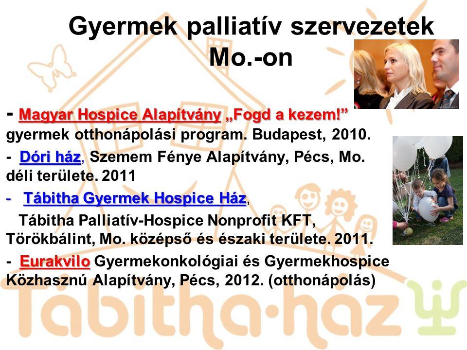 Gyermek palliatív szervezetek Mo.-on