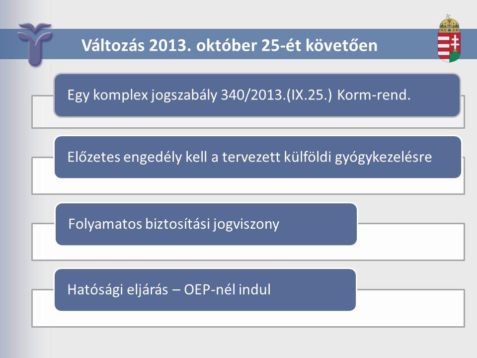 Változás 2013. október 25-ét követően