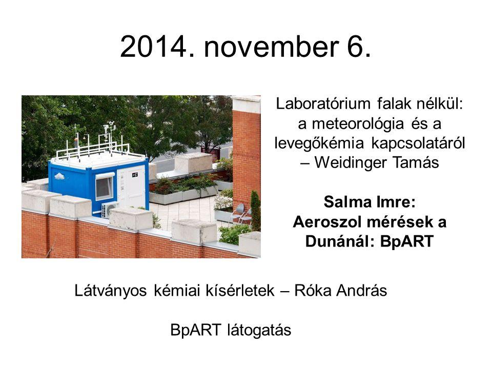 Aeroszol mérések a Dunánál: BpART