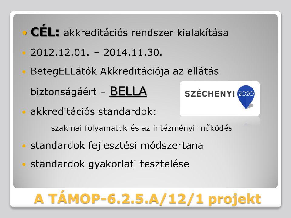 A TÁMOP-6.2.5.A/12/1 projekt CÉL: akkreditációs rendszer kialakítása