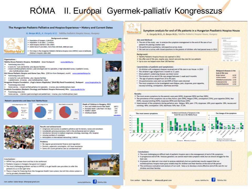 RÓMA II. Európai Gyermek-palliatív Kongresszus