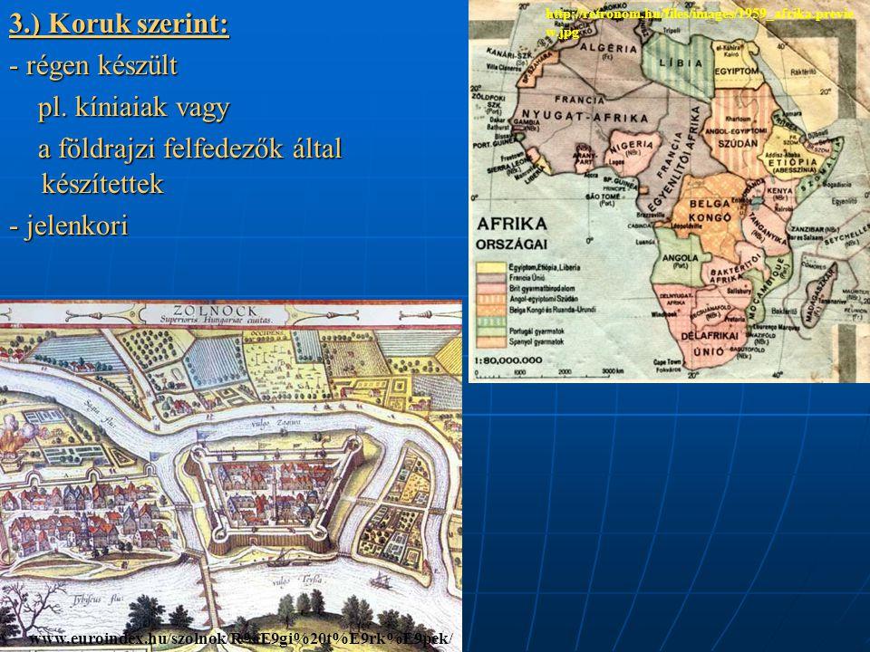a földrajzi felfedezők által készítettek - jelenkori