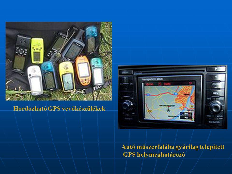 Hordozható GPS vevőkészülékek