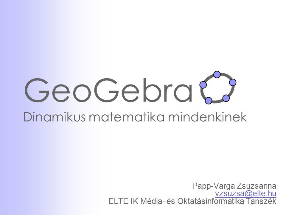 GeoGebra Dinamikus matematika mindenkinek