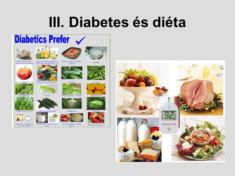 III. Diabetes és diéta