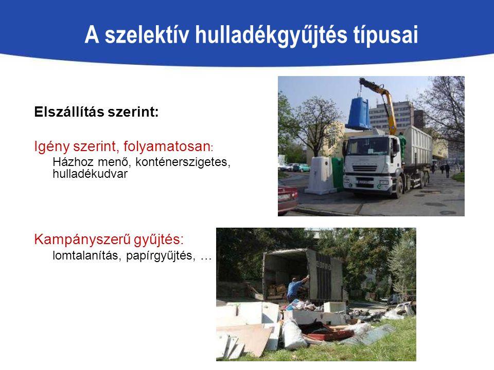A szelektív hulladékgyűjtés típusai