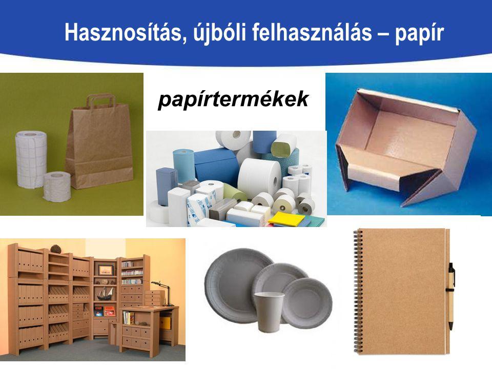 Hasznosítás, újbóli felhasználás – papír