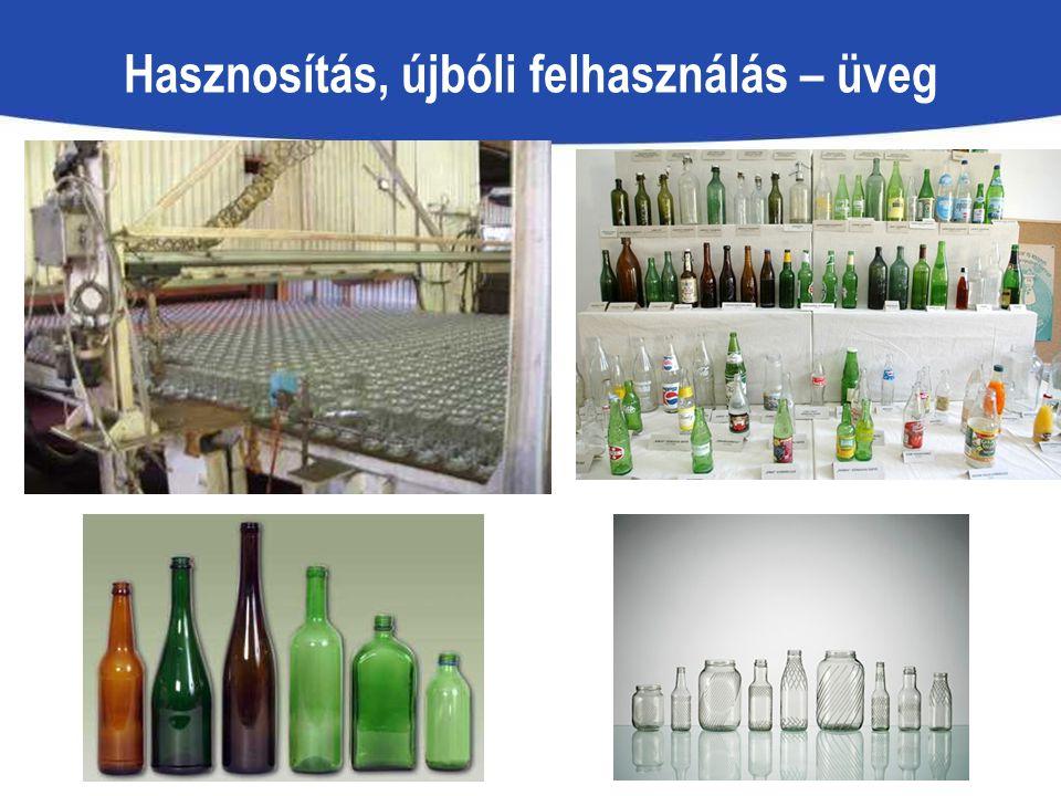 Hasznosítás, újbóli felhasználás – üveg