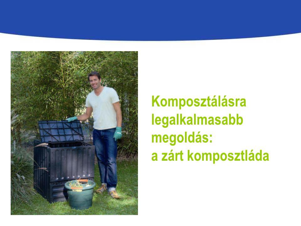 Komposztálásra legalkalmasabb megoldás: a zárt komposztláda