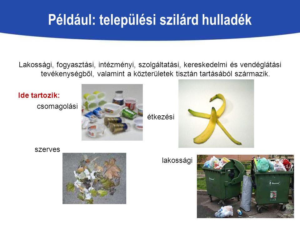 Például: települési szilárd hulladék