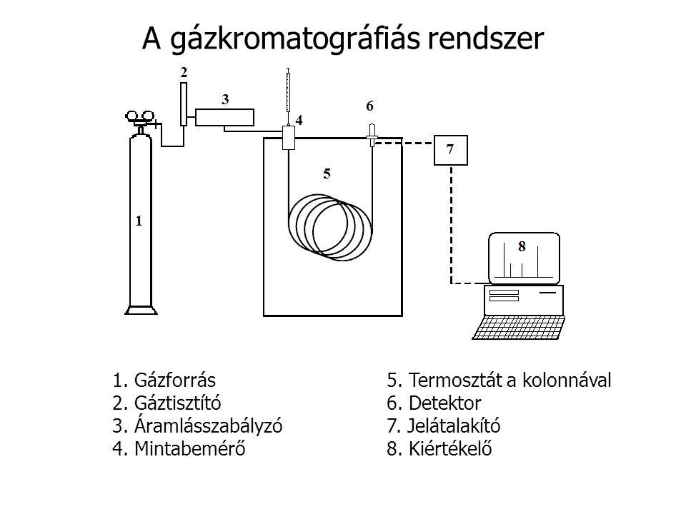 A gázkromatográfiás rendszer