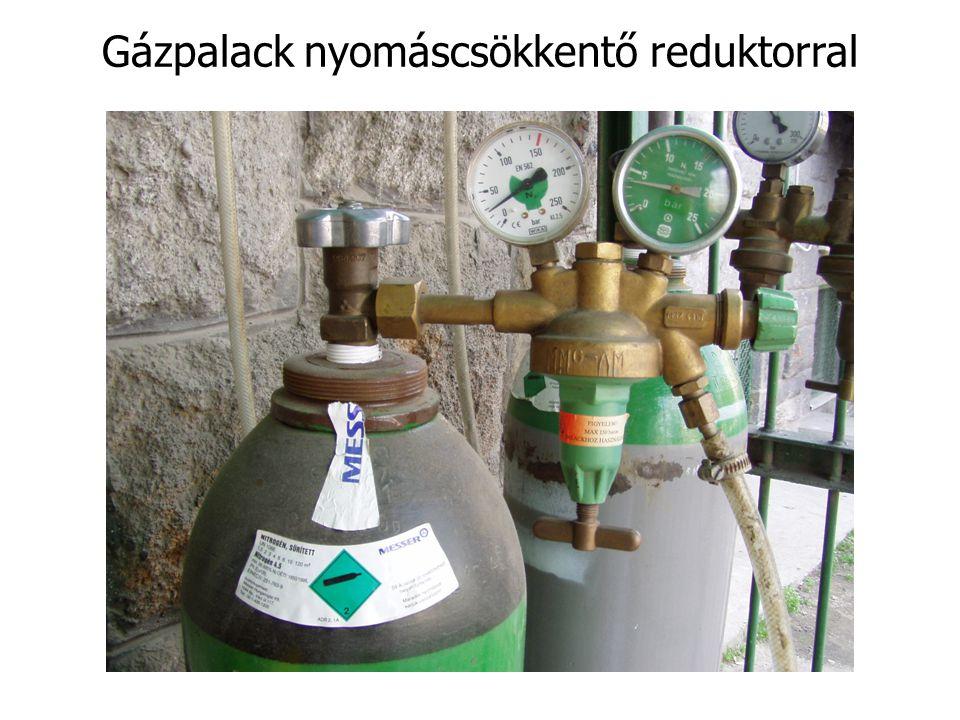 Gázpalack nyomáscsökkentő reduktorral