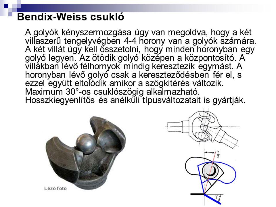 Bendix-Weiss csukló