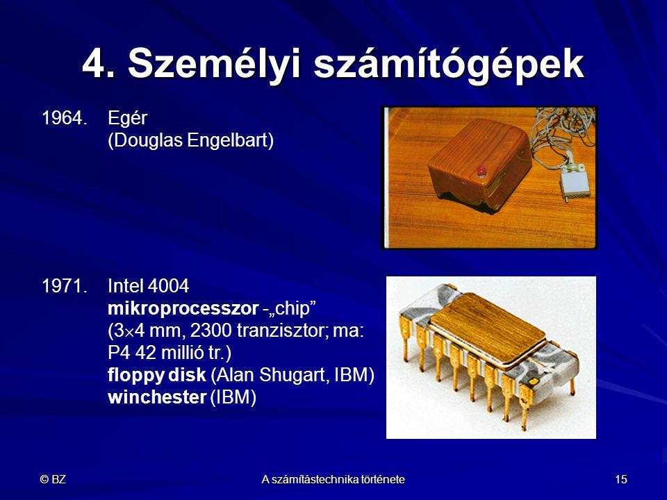 4. Személyi számítógépek