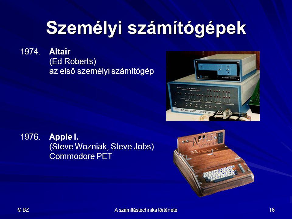 Személyi számítógépek