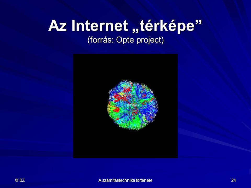 """Az Internet """"térképe (forrás: Opte project)"""