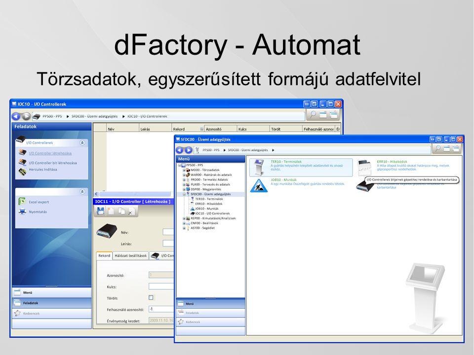 dFactory - Automat Törzsadatok, egyszerűsített formájú adatfelvitel