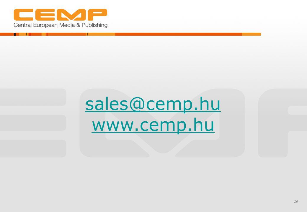 sales@cemp.hu www.cemp.hu 16