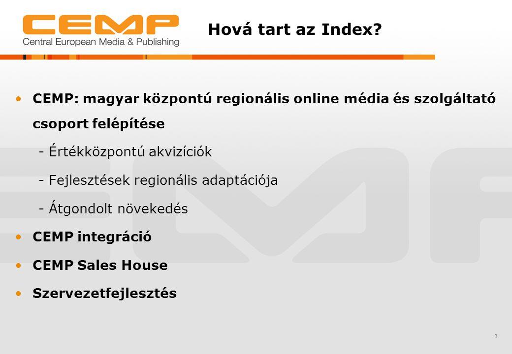 Hová tart az Index CEMP: magyar központú regionális online média és szolgáltató csoport felépítése.