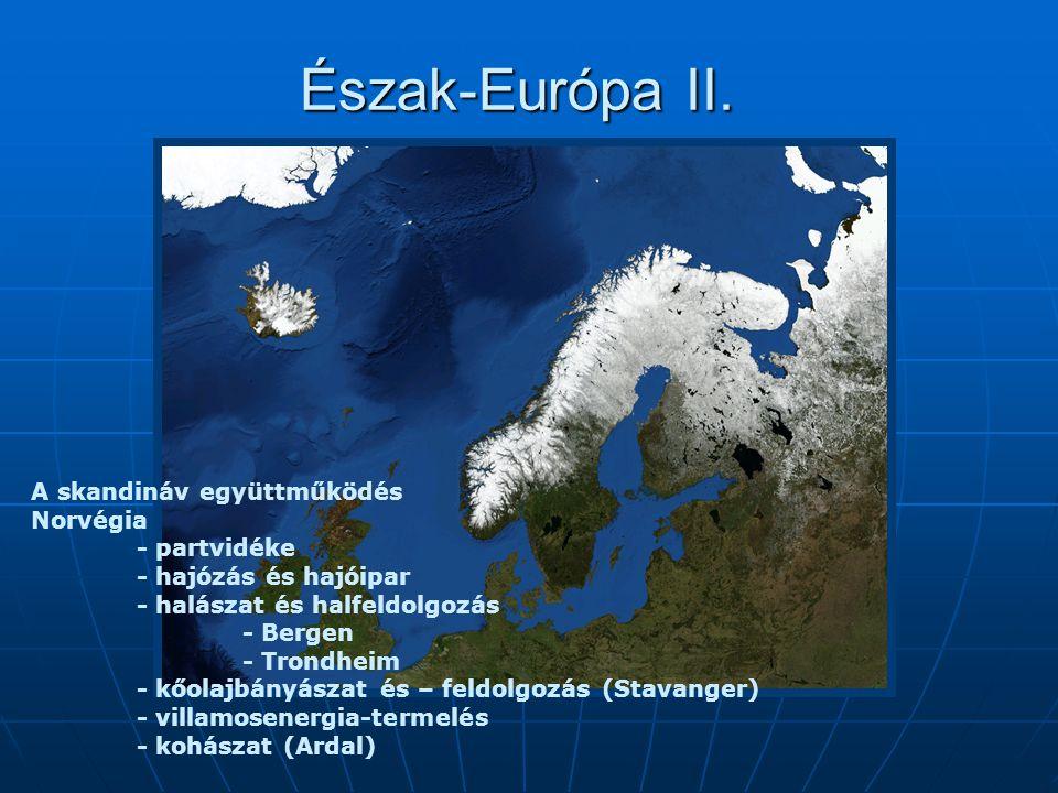 Észak-Európa II. A skandináv együttműködés Norvégia - partvidéke