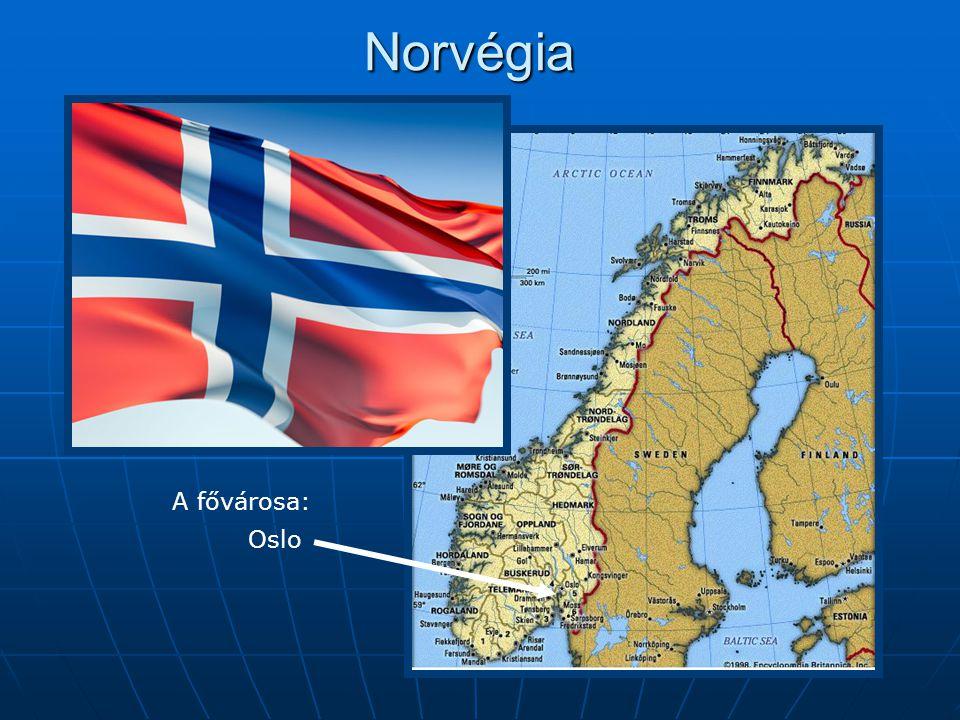 Norvégia A fővárosa: Oslo