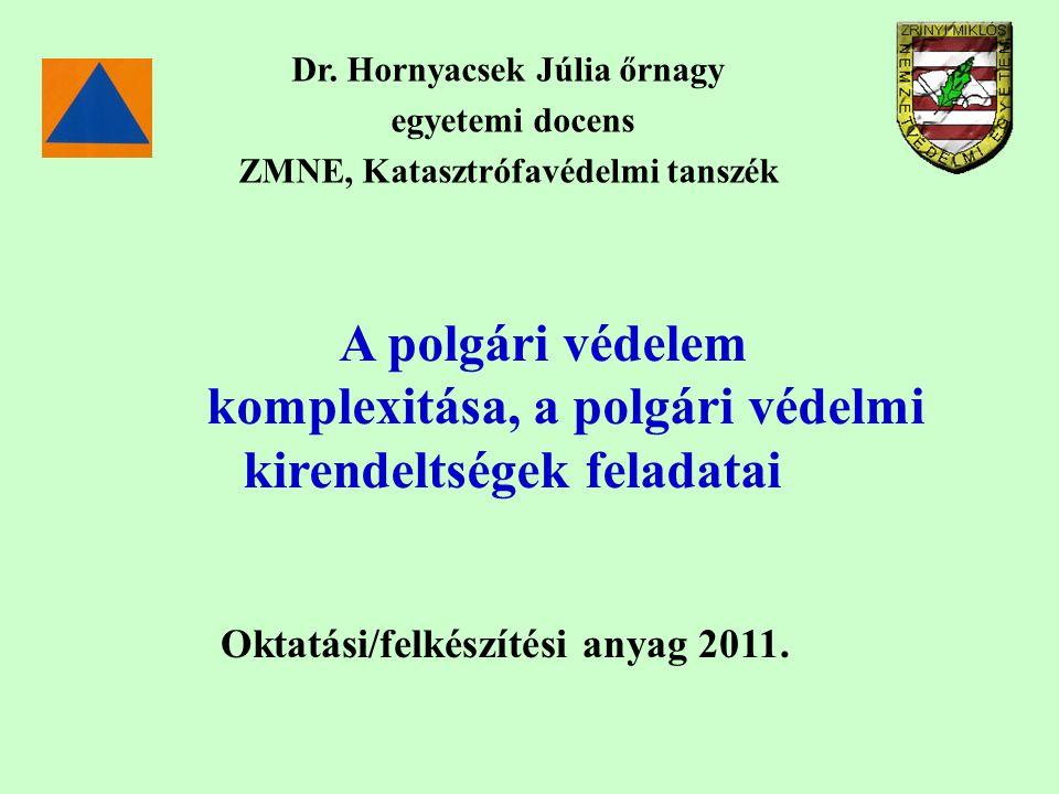 Dr. Hornyacsek Júlia őrnagy