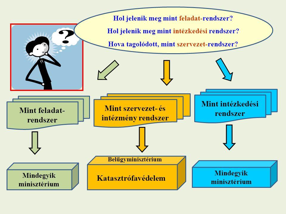 Mint intézkedési rendszer Mint szervezet- és intézmény rendszer