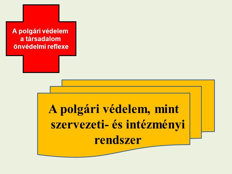 A polgári védelem, mint szervezeti- és intézményi rendszer